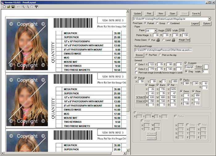 Parker Franklin Schools Photography Software - Prooflayout